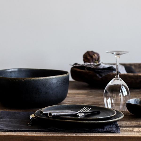 Bytové doplňky Desertní talíř rustic black