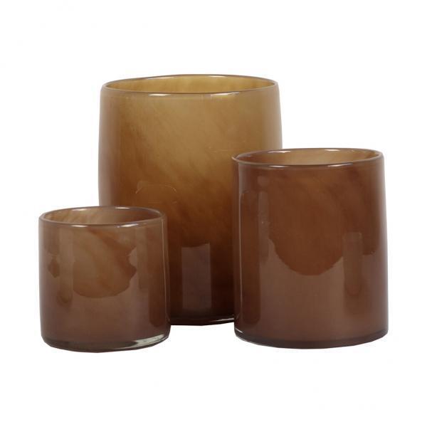 Bytové doplňky Svícen/váza GLASS Brown