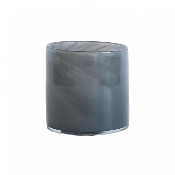 Bytové doplňky Svícen GLASS Grey S