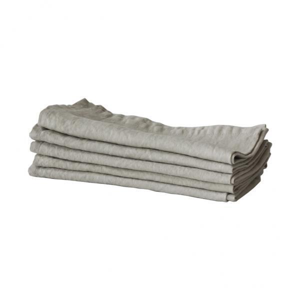 Bytové doplňky Lněný ubrousek warm grey