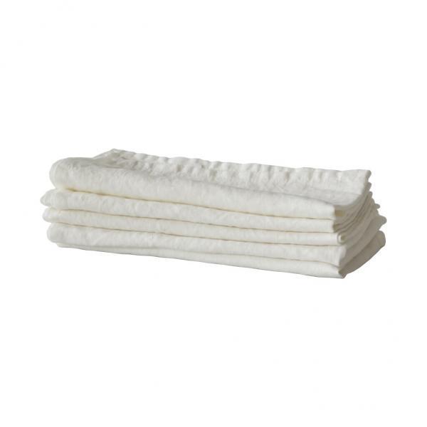 Bytové doplňky Lněný ubrousek white