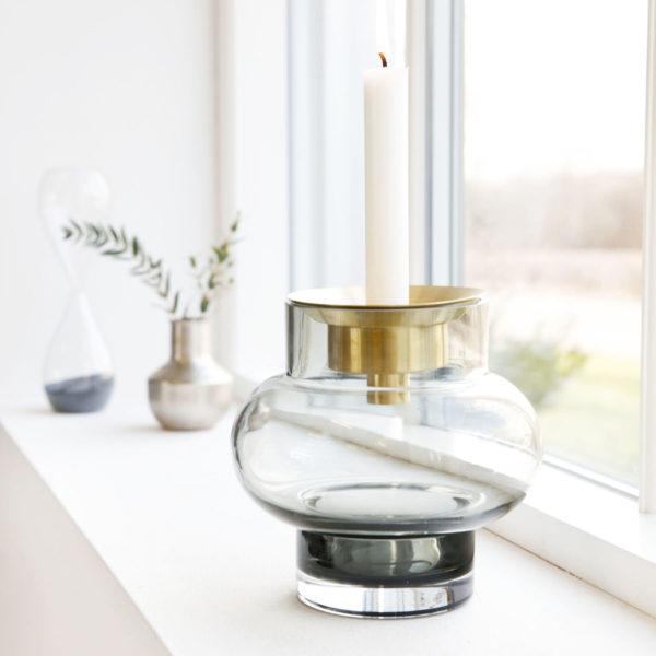 Bytové doplňky Váza smoke glass