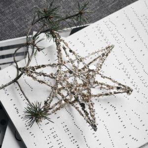 Bytové doplňky Hvězda s flitry